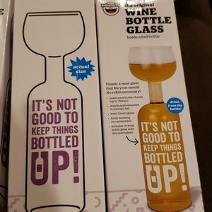 bigmouth inc Dining - BigMouth Inc Original Wine Bottle Glass Gift x2